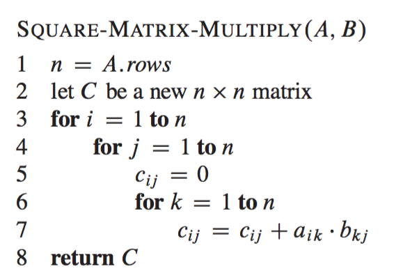 Matrix multiplication using the Divide and Conquer paradigm